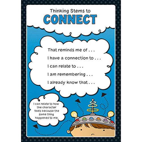 Carson-Dellosa Thinking Stems Bulletin Board Set—Infer, Determine Importance, Provide Evidence, Connect, Evaluate, Visualize, Synthesize, Question, Critical Thinking Skills Charts (10 pc) (110286) Photo #2