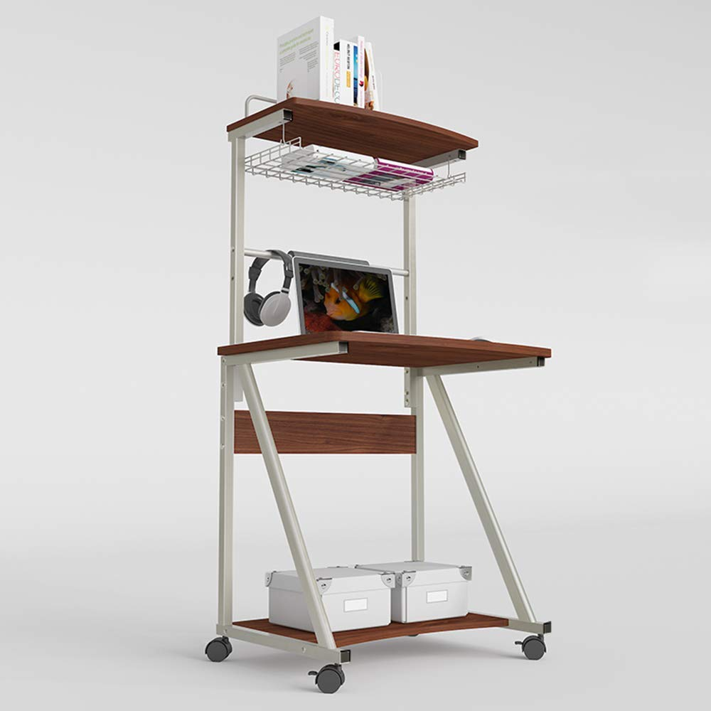 Home&Selected Furniture/Portátil móvil Ordenador portátil de Escritorio en casa en la computadora de Escritorio Pupitre de niño Study Desk Estante Estantería 4 Capas de Almacenamiento (Color : C): Amazon.es: Hogar