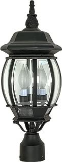 Nuvo Lighting 60/899 Three Light Lantern Post Mount, Black
