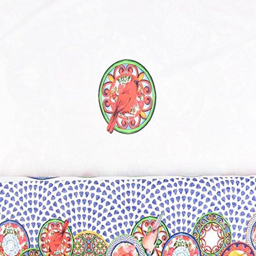 Jersey Stenzo Digitaldruck Paneele Vogel Blume weiß bunt 1,50m Breite