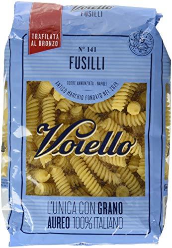 Voiello Pasta Fusilli N.141, Pasta Corta di Semola Grano Aureo 100% - 500 gr