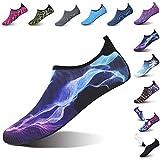 L-RUN Athletic Water Sports Shoes for Swim Blue L(W:8.5-9.5,M:7-7.5)=EU39-40