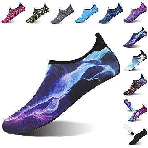L-RUN Womens Mens Water Shoes Aerobic Sports Blue XL(W:10.5-11,M:8-9)=EU41-42