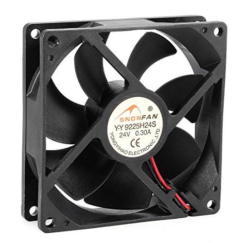 Ventilador de refrigeración DyniLao 92 mm x 92 mm x 25 mm 24 V CC Ventilador de caja de computadora con cojinete HY de larga duración