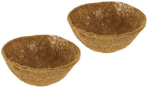 Bundle of 2 Border Concepts Coconut Fiber Hanging Basket Replacement Liners (12