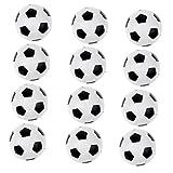 Hellery 12 Piezas de Juegos de Interior, Pelotas de Fútbol, futbolines, 36 Mm, Accesorios de Futbolín -