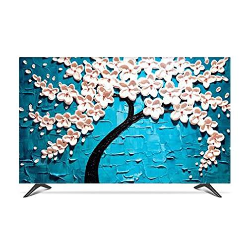 Yinian 22-80in TV Cubierte, Poliéster por A Prueba De TV Protector De Pantalla Tela De Protección para LCD Led Dormitorio Interior Decoración De Sala De Estar Suave Suave(Size:55 in,Color:A)