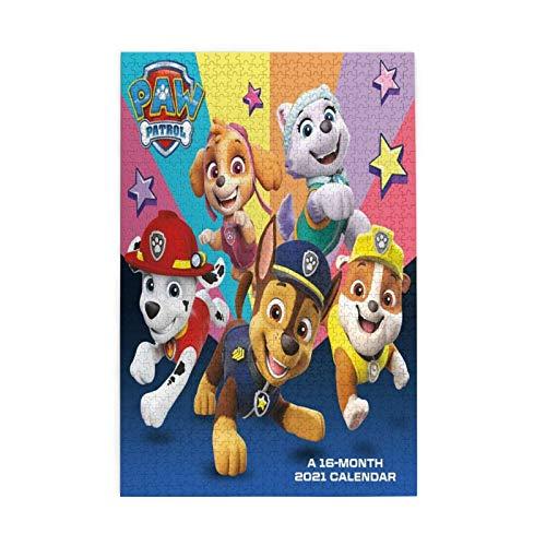 Rompecabezas creativo de la Patrulla Canina de 1000 piezas rompecabezas para adultos juego de rompecabezas niño y niña regalos de cumpleaños