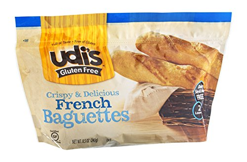 Udi's Gluten Free French Baguettes, 2 Baguettes per Pack [Case of 6]