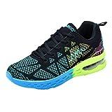 WWricotta LuckyGirls Zapatillas de Correr Hombre Mujer Geometría Casual Moda Cómodas Calzado para Deporte Zapatos para Andar con Cordones Bambas de Running Deportivas Zapatos de Gimnasia