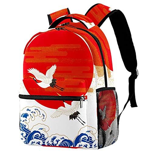Mochila para Viaje Sol Rojo Mochila para Adolescentes Mochila Escolar Impresión Bolsa para La Escuela Backpack para Escuela Viajes Deportes 29.4x20x40cm