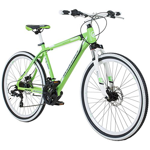 Galano 26 Zoll Toxic Mountainbike Hardtail MTB Jugendmountainbike Jugendfahrrad (Grün, 46 cm)