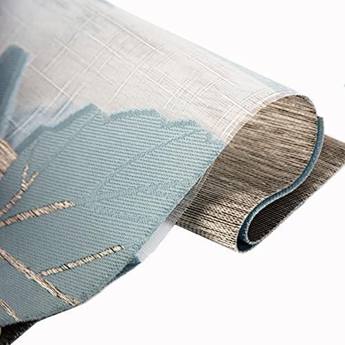 CHAXIA Persianas Enrollables De Hilo Suave, Personalizable Doble Capa Persianas Azul Sombra Romana Sala De Estar Cuarto Colgar Cortinas, Varios Tamaños (Color : A, Size : 150x250cm)