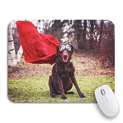 Gaming mouse pad schokoladen labrador retriever posieren für die kamera während hot rutschfeste gummi backing mousepad für notebooks computer maus matten