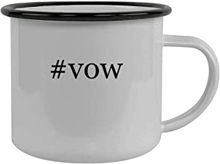 #vow - Stainless Steel Hashtag 12oz Camping Mug, Black