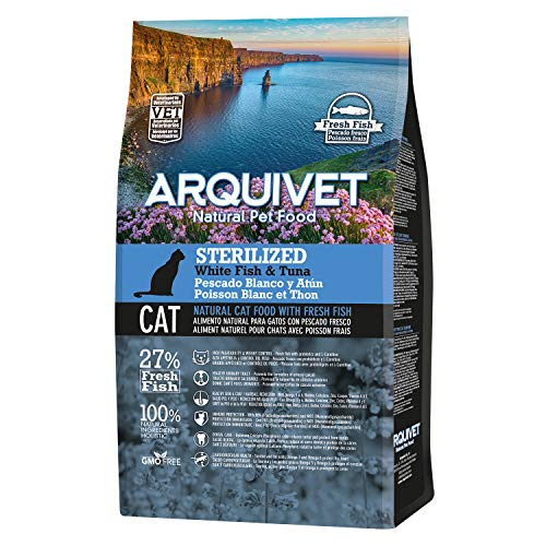 Arquivet Charity ASIN Pienso para Gatos esterilizados - Sterilized Adult Pescado Blanco...