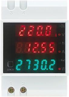 KKmoon AC80-300V 100A Poder Factor Metro Amperímetro Voltímetro Multi-Funcional Digital Din Carril Actual Voltaje