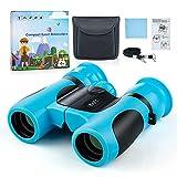 Dreamhigh® Binoculares para Niños 8x21, Compactos a Prueba de Golpes, Prismáticos para Niños, Observación de Aves Excursiones Caza Aprendizaje, Mejores Regalos para Niños de 3-12 años (Azul)