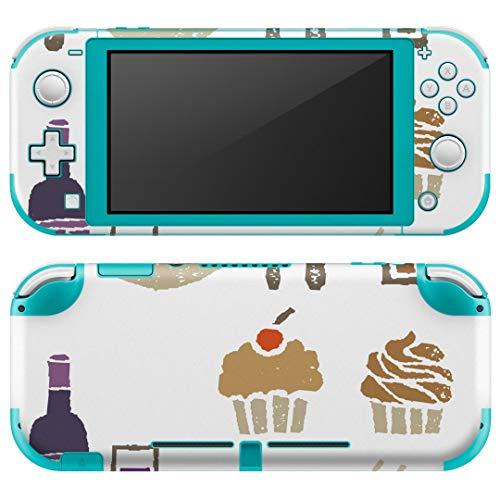 igsticker Nintendo Switch Lite 専用 デザインスキンシール 全面 任天堂 スイッチ ライト 専用 ゲーム機 カバー アクセサリー フィルム ステッカー エアフリー 013336 ケーキ ワイン 食べ物 [video game]