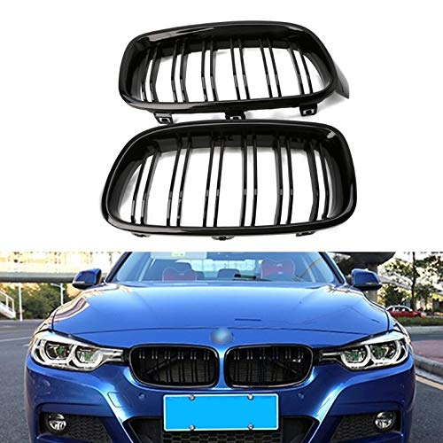 Autorennen-Grills Nieren-Kühlergrill 1 Paar Gloss Black Front Grille Kidney Fit For BMW 3-Series F30 F31 F35 2012-2016