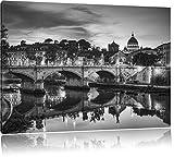 Pixxprint Cattedrale di San Pietro a Roma Stampa su Tela 100x70 cm Artistica murale...
