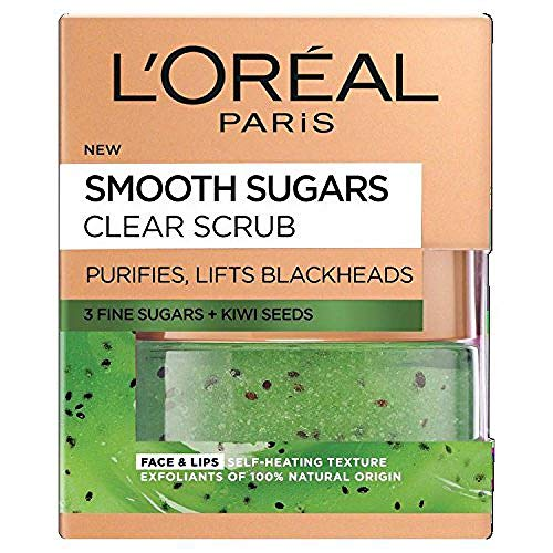 L'Oreal Paris Smooth Sugar Nourish Scrub viso e...