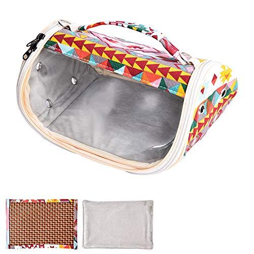 Furpaw Transportbox Meerschweinchen, Transportbox Meerschweinchen Atmungsaktive Hamster Ratten Tasche, Transparent Reisetasche für Winter Und Sommer