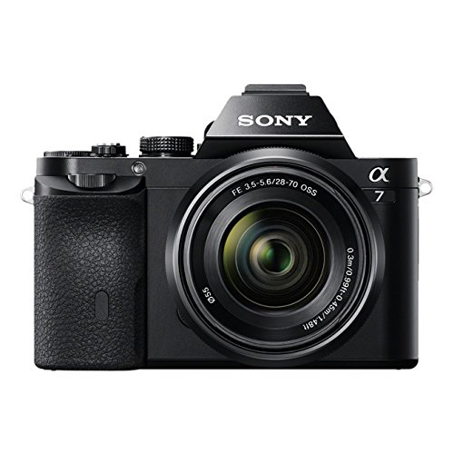 Sony Alpha 7K Kit Fotocamera Digitale Mirrorless con Obiettivo Intercambiabile SEL 28-70mm, Sensore CMOS Exmor Full-Frame da 24.3 MP, ILCE7B + SEL2870, Nero