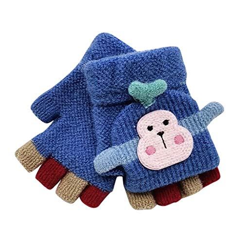URSING Herbst und Winter Baby Warme Handschuhe Kind Gestrickte Fäustlinge 1-3 Jahre alt Unisex Baby Schüler Schreiben Warme Handschuhe Kind Karikatur Fünf Finger Gestrickte Fäustlinge