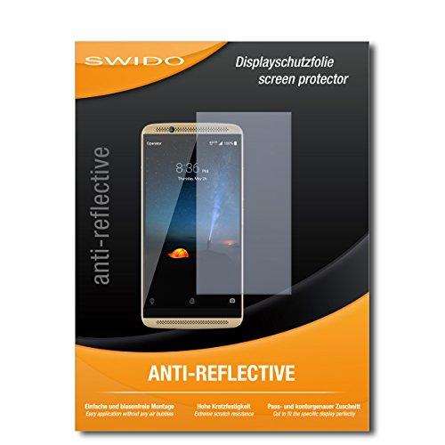 SWIDO Bildschirmschutzfolie für ZTE Axon 7 [3 Stück] Anti-Reflex MATT Entspiegelnd, Extrem Kratzfest, Schutz vor Kratzer/Bildschirmschutz, Schutzfolie, Panzerfolie