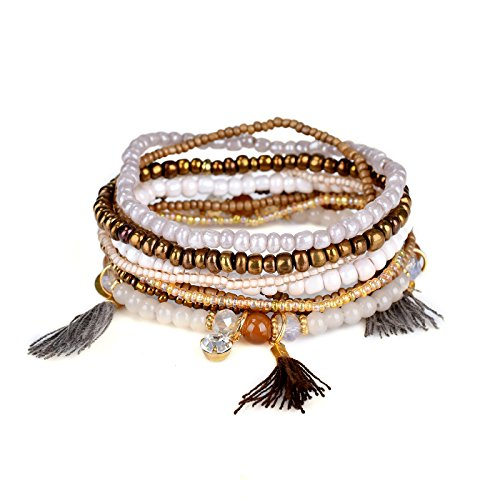 Teniu Vitality Bohemian Bracelet Imitation Pearls Charm Bracelet Beaded Bracelets Fashion Jewelry Bracelets For Girls Women