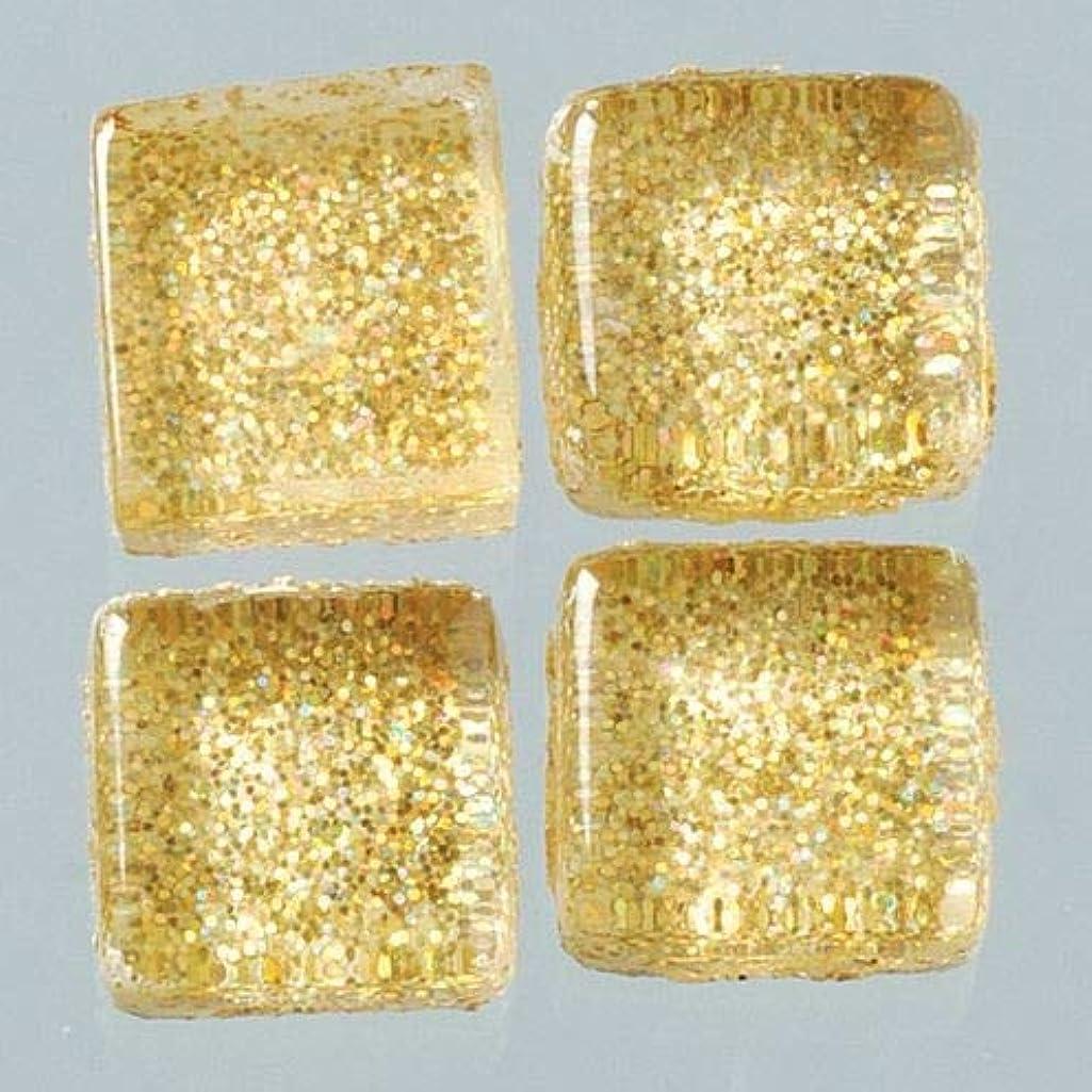 MosaixPro 20 x 20 x 4 mm 200 g 41-Piece Glass Glitter Tiles, Gold