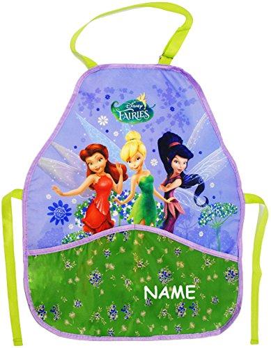 alles-meine.de GmbH Kinderschürze -  Disney Fairies / Tinkerbell  - incl. Name - größenverstellbar & mit 2 Taschen - Schürze / beschichtet & wasserdicht - für Jungen & Mädchen ..