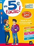 Ma 5e facile ! adapté aux enfants DYS ou en difficulté d'apprentissage: cahier d...