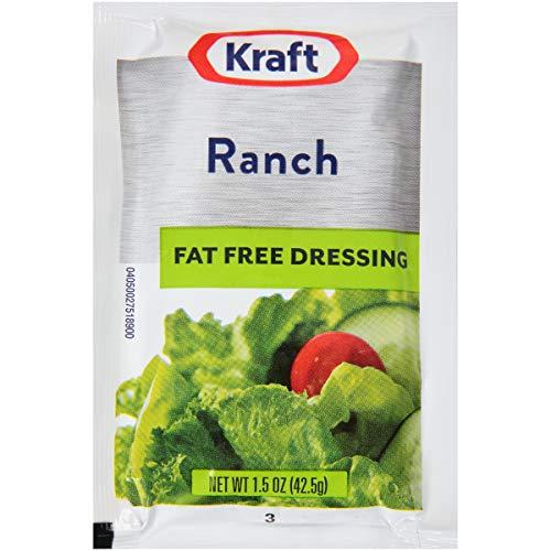 Kraft Ranch Fat Free Single Serve Salad Dressing (1.5 oz Packets, Pack of...