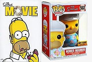 """I don't wanna look like a weirdo. I'll just go with a muumuu."" Super Fan Pack: The Simpsons The Movie + FUNKO THE SIMPSONS POP! 502 TELEVISION HOMER MUUMUU VINYL FIGURE EXCLUSIVE 2 piece bundle"