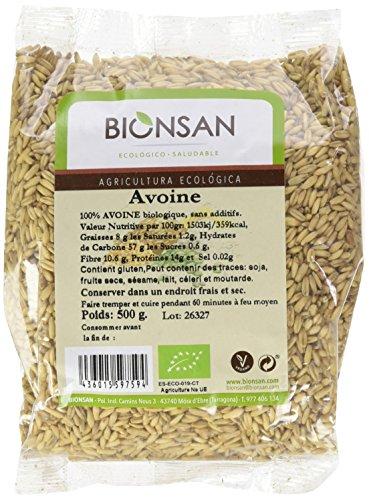 Bionsan - Avoine Sativa en Grains Biologique | 500 gr