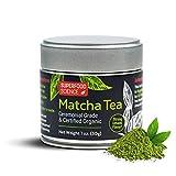 Superfood Science Organic Ceremonial Matcha Green Tea Powder, Authentic USDA Organic Japanese Matcha Tea Powder, Non GMO, 30 g Tin Can