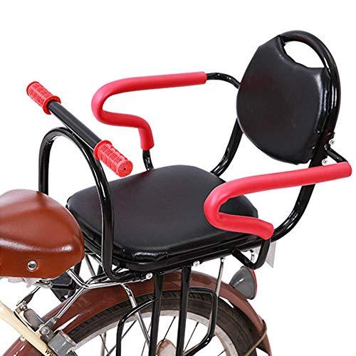 GPWDSN fiets-kinderzitje kinderfietsstoeltje achter baby-veiligheidszitje grote ruimte met veiligheidsgordel geschikt voor elektrische fiets mountainbike