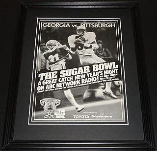1982 Sugar Bowl on ABC Georgia vs Pitt 11x14 Framed ORIGINAL Advertisement
