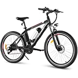 ANCHEER Bicicleta Electrica 36V 8Ah, Bicicleta Electrica Montana 26 Pulgadas, Motor 250W 34N.m Freno de Disco Doble