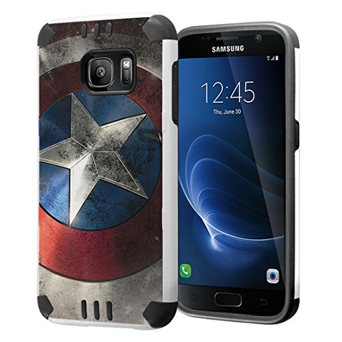 Galaxy S7 Case, Capsule-Case Hybrid Dual Layer Silm Defender Armor Combat Case Brush Texture Finishing for Samsung Galaxy S7 SM-G930 - (Rock Star)