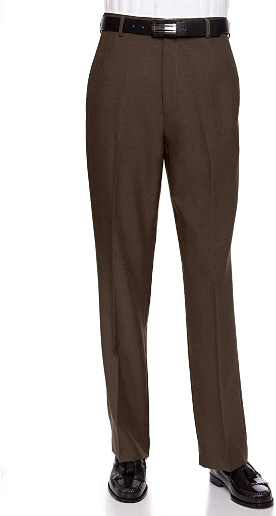 RGM Men's Flat Front Dress Pant Modern Fit - Perfect for Every Day!