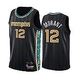 WOLFIRE WF Camiseta de Baloncesto para Hombre, NBA, Memphis Grizzlies #12 Ja Morant. Bordado, Transpirable y Resistente al Desgaste Camiseta para Fan (City Edition 2021, L)