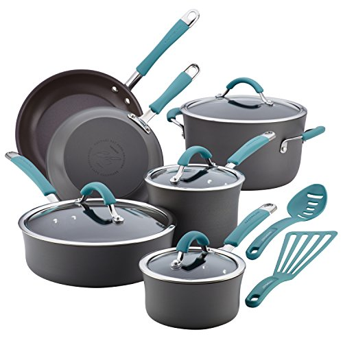 Rachael Ray Cucina 12 piece Hard Anodized Cookware Set - Cranberry