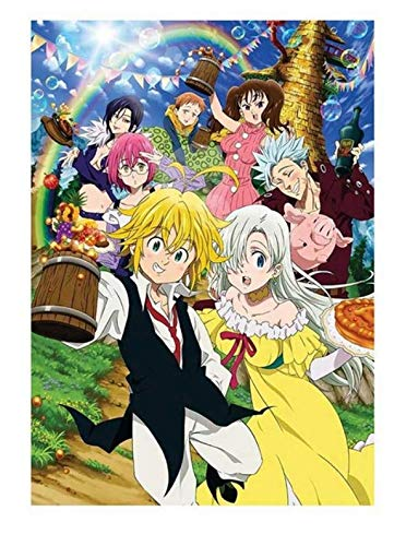 xuyuandass Los Siete Pecados Capitales De Umeda Anime Manga Pintura De Pared Sin Marco 50x60Cm K2179