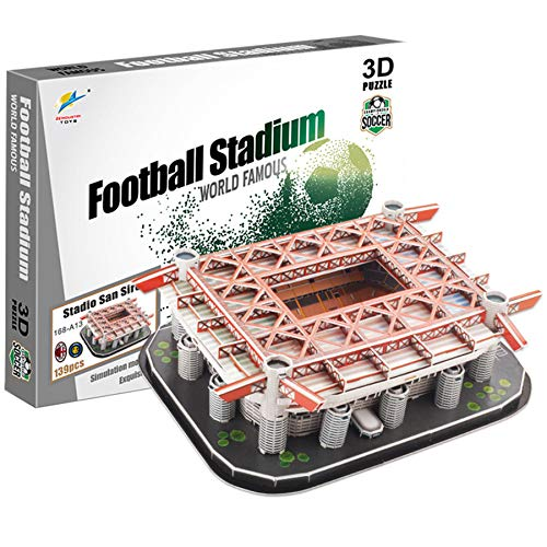 Georgie Porgy Puzzle dello Stadio di Calcio 3D Giocattoli da Costruzione Set di Sostruzione (Stadio San Siro Staduim 139pcs)