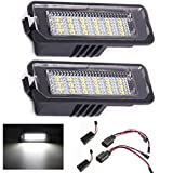 Paision Error Free LED License Plate Lights Tag Lamp Assembly Compatible/Replacement for Volkswagen VW Golf GTI MK4 MK5 MK6 MK7 Passat B6 CC Polo EOS Phaeton Beetle Scirocco, 6000K White