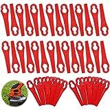 120pcs Cuchillas de Plástico Cortacésped,Cuchillas Cortador de Césped Repuesto,Cuchillas de Plástico Hierba,Cuchillas de Repuesto Rojo,Cuchillas de Repuesto de Plástico,Cortabordes de Plástico