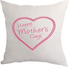 وسادة مطبوع عليها Happy Mother's Day، قماش كتاني 40×40 سم